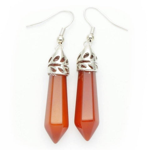 Carnelian Point Earrings