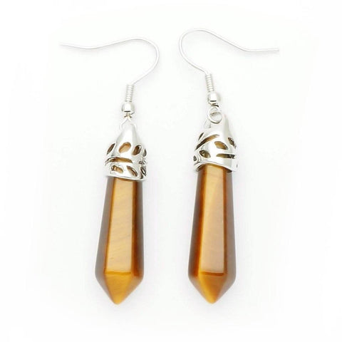 Tiger Eye Point Earrings