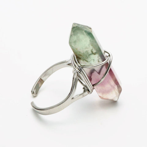 Fluorite Point Ring