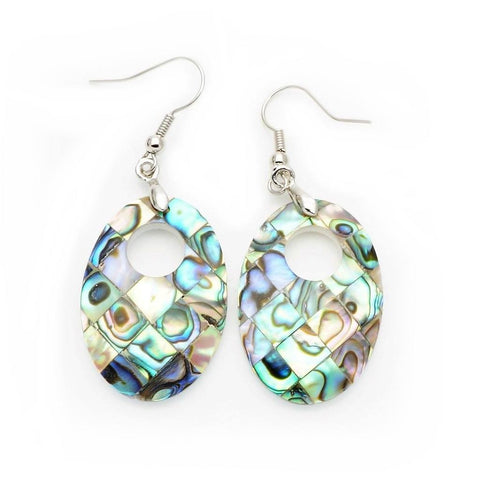 Abalone Shell Oval Earrings