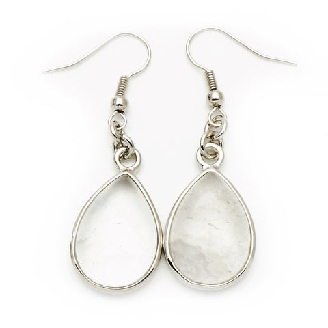 Quartz Teardrop Earrings