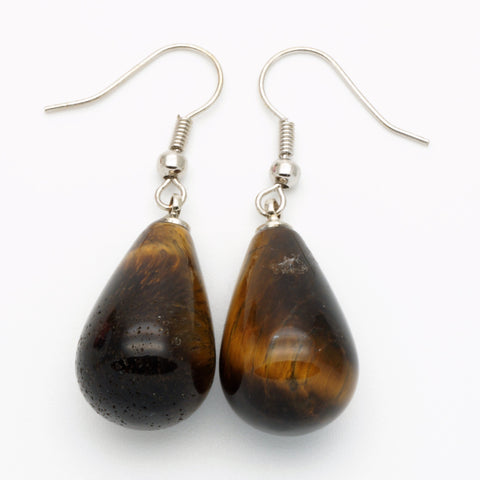 Tiger Eye Teardrop Earrings