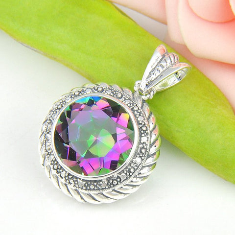 Mystic Topaz Circular Necklace