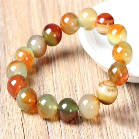 Mixed Agate Bead Bracelet