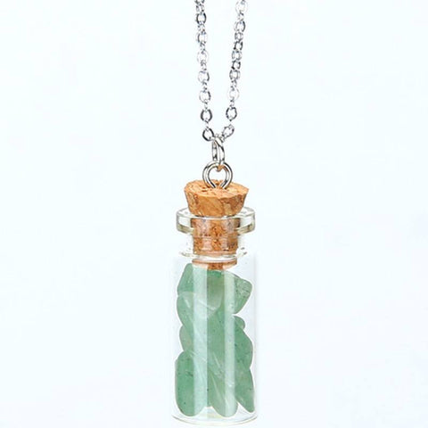 Green Aventurine Chipped Gemstone Bottle