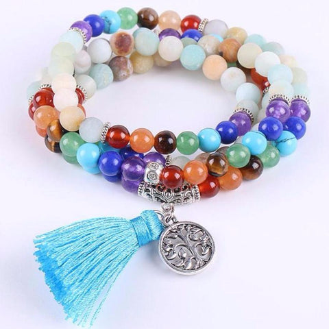 Amazonite Tree Of Life Bead Necklace/Bracelet