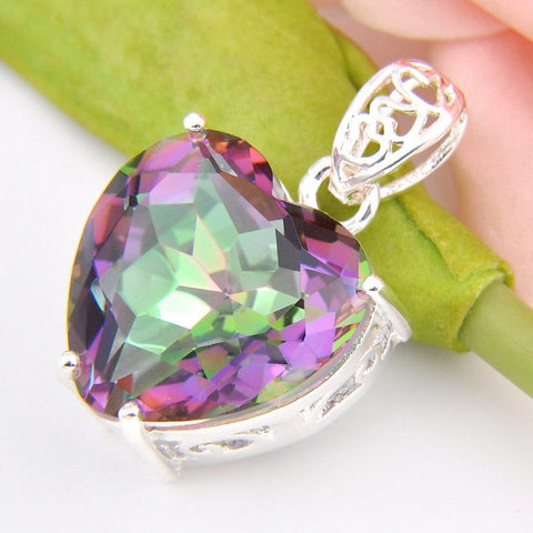 Mystic Topaz Heart Necklace