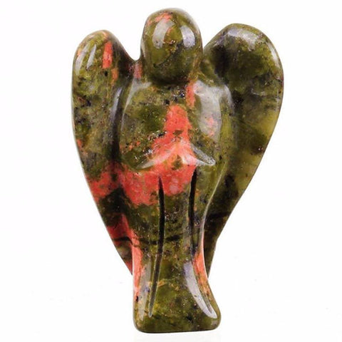 Unakite Carved Angel