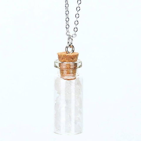 Quartz Chipped Gemstone Bottle