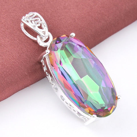 Mystic Topaz Oval Necklace