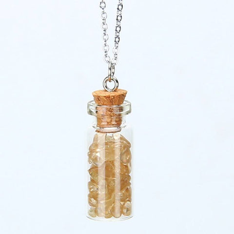 Citrine Chipped Gemstone Bottle