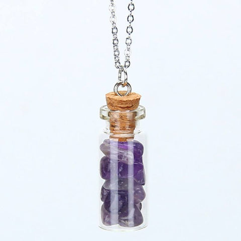 Amethyst Chipped Gemstone Bottle