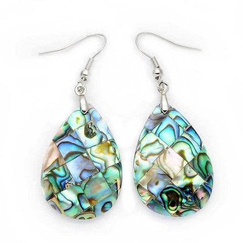 Abalone Shell Teardrop Earrings