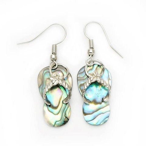 Abalone Shell Sandal Earrings