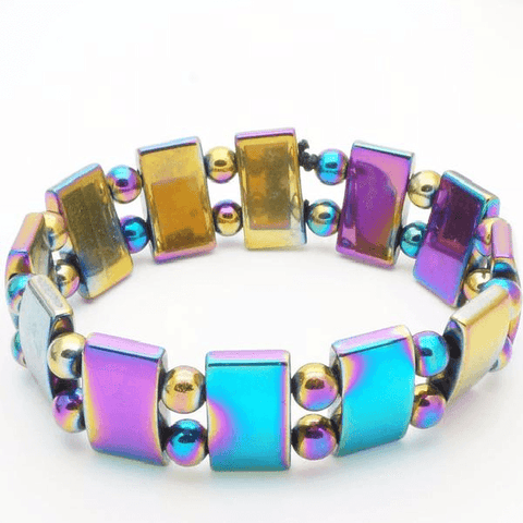 Multi-Color Hematite Magnetic Therapy Bracelet