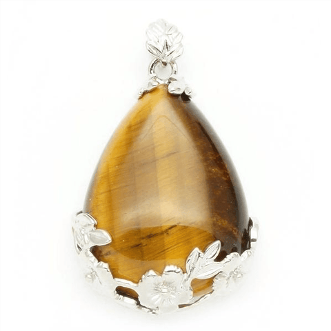 Tiger Eye Teardrop Pendant
