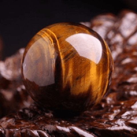 Tiger Eye Carved Sphere