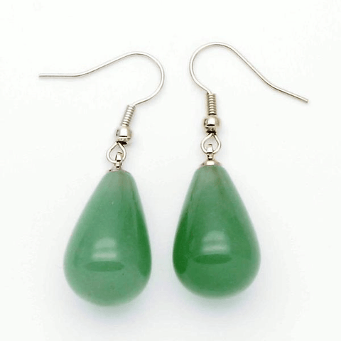 Green Aventurine Teardrop Earrings