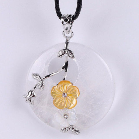 Quartz Flower Pendant