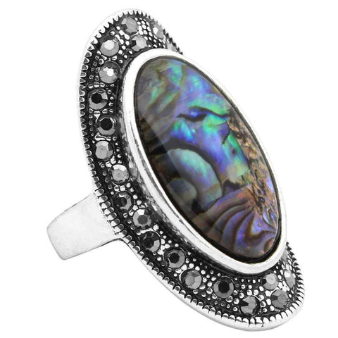Abalone Oval Ring