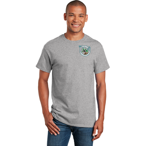 West Falls Conservation Society Gildan® - Ultra Cotton® 100% Cotton T-Shirt - Blue Bison Sports