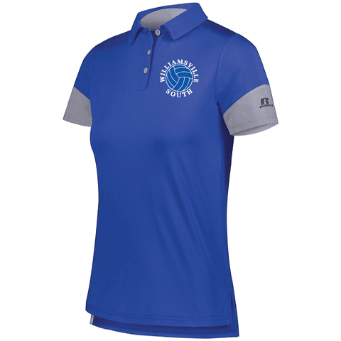 Williamsville South HS Girl's Volleyball Russell Ladies Hybrid Polo