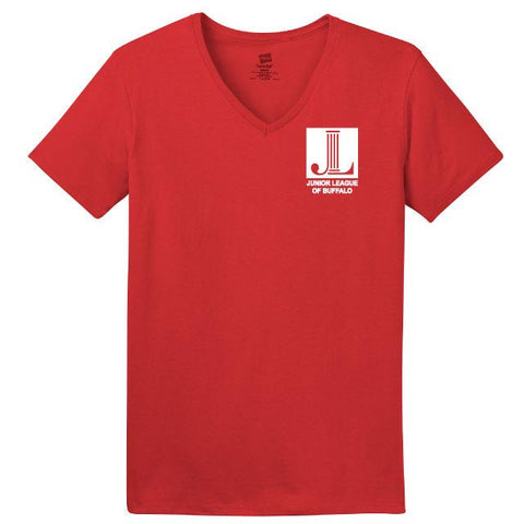 Junior League of Buffalo Hanes Ladies ComfortSoft V-Neck T-Shirt
