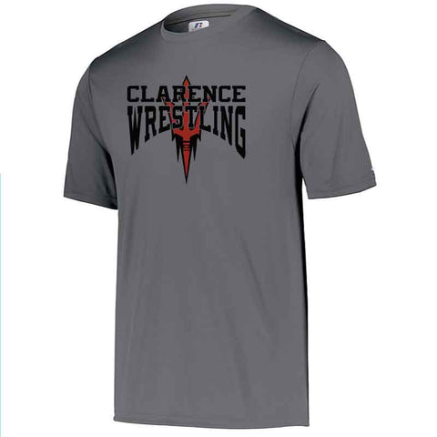 Clarence HS Wrestling Dri-Power Core Performance Tee - Blue Bison Sports