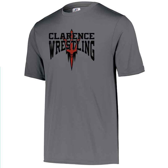 Clarence HS Wrestling Russell Dri-Power Core Performance Tee - Blue Bison Sports