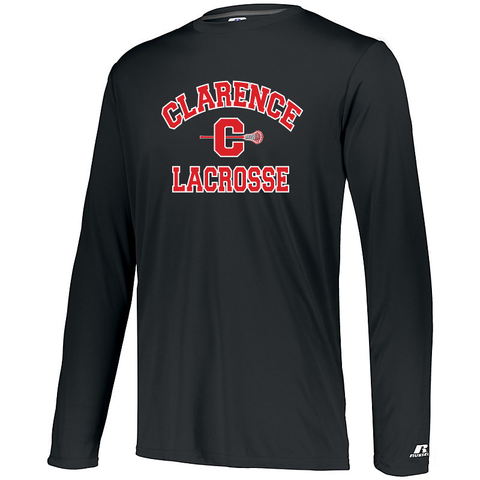 Clarence HS Boy's Lacrosse DRI-POWER CORE PERFORMANCE LONG SLEEVE TEE - Blue Bison Sports