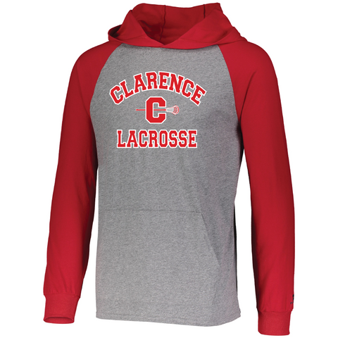 Clarence HS Boy's Lacrosse ESSENTIAL HOODIE - Blue Bison Sports