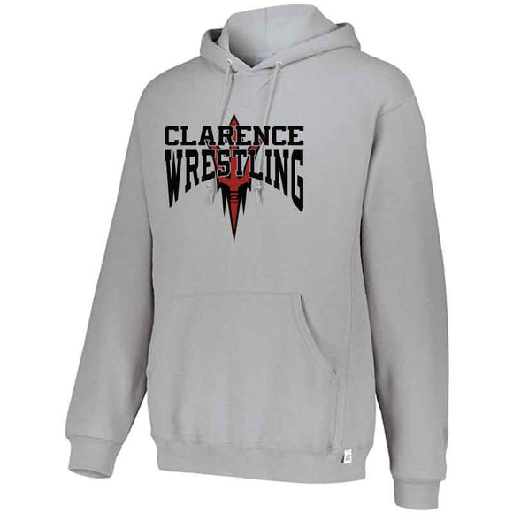 Clarence HS Wrestling Russell Dri-Power Fleece Hoodie - Blue Bison Sports