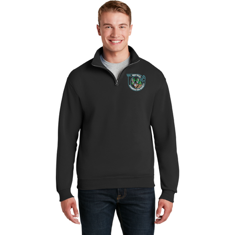 West Falls Conservation Society JERZEES® - NuBlend® 1/4-Zip Cadet Collar Sweatshirt - Blue Bison Sports