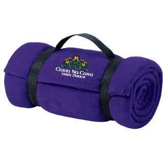 CNC Port & Company® - Value Fleece Blanket with Strap - Blue Bison Sports