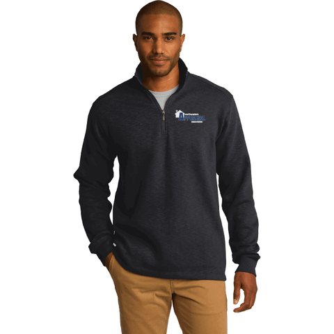 Northeastern Appraisal Associates Port Authority® Slub Fleece 1/4-Zip Pullover - Blue Bison Sports