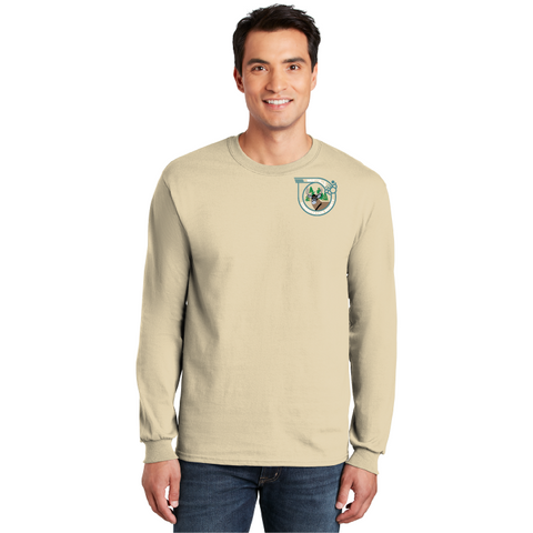 West Falls Conservation Society Gildan® - Ultra Cotton® 100% Cotton Long Sleeve T-Shirt - Blue Bison Sports