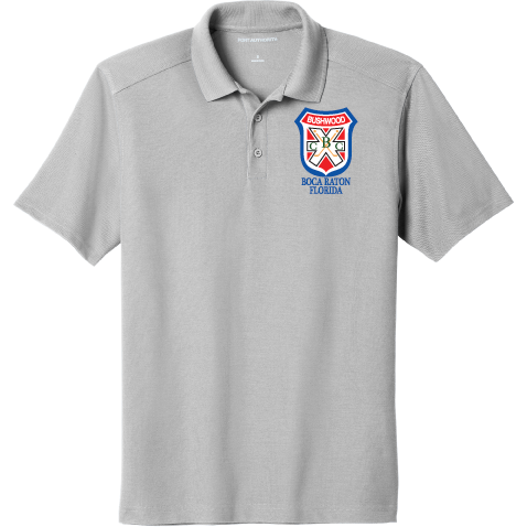 Bushwood Port Authority ® EZPerformance ™ Pique Polo - Blue Bison Sports