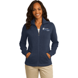 Northeastern Appraisal Assoc. Port Authority® Ladies Slub Fleece Full-Zip Jacket - Blue Bison Sports