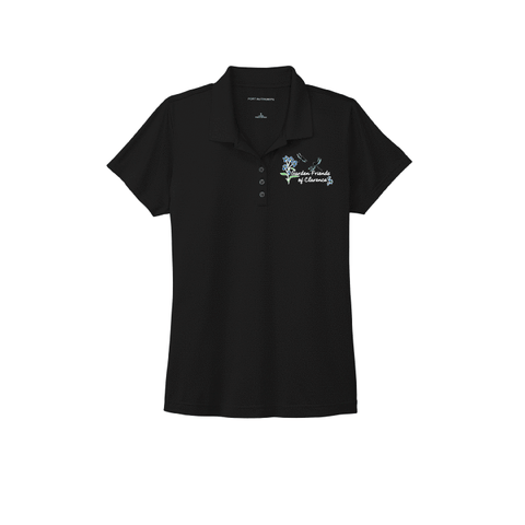 Garden Friends of Clarence Port Authority® Ladies Eclipse Stretch Polo - Blue Bison Sports