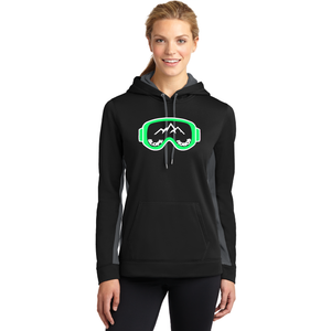 Slope Hobos Ski Club Sport-Tek® Ladies Sport-Wick® Fleece Colorblock Hooded Pullover