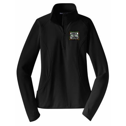 Rince Na Tiarna Sport-Tek® Ladies Sport-Wick® Stretch 1/2-Zip Pullover - Blue Bison Sports