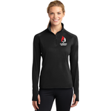 Clarence Ski Club Sport-Tek® Ladies Sport-Wick® Stretch 1/2-Zip Pullover - Blue Bison Sports