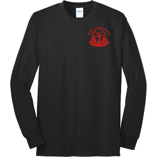 Double A Landscaping Port & Company® - Long Sleeve Core Blend Tee - Blue Bison Sports