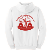 Double A Landscaping Port & Company® Essential Fleece Pullover Hooded Sweatshirt - Blue Bison Sports