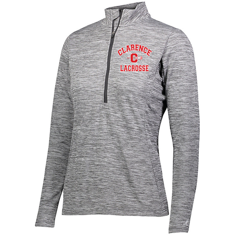 Clarence HS Boy's Lacrosse LADIES DRI-POWER LIGHTWEIGHT 1/4 ZIP PULLOVER - Blue Bison Sports