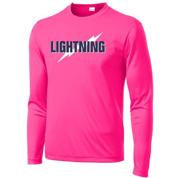 Lightning Softball Sport-Tek® Long Sleeve PosiCharge® Competitor™ Tee - Blue Bison Sports
