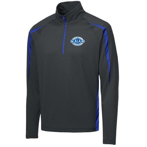 ALA Sport-Tek Unisex Sport-Wick Stretch 1/2-Zip Colorblock Pullover - Blue Bison Sports