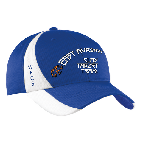 East Aurora Clay Target Team Sport-Tek® Dry Zone® Nylon Colorblock Cap