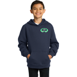 Slope Hobos Ski Club Sport-Tek® Youth Pullover Hooded Sweatshirt - Blue Bison Sports
