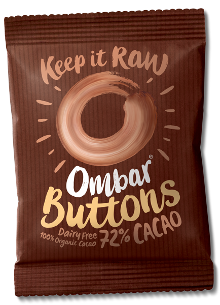Ombar Buttons 72% Cacao (Case of 15)
